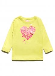 bluzka w pastelowym odcieniu żółci