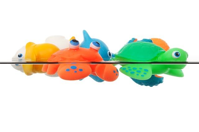 zabawki do kąpieli dla dzieci, zielony żółw, pomarańczowy krab, niebieski delfin